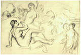 Pierre Auguste Renoir Bather Sketch 2 Art Print Poster Posters