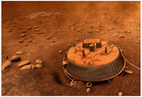 Huygens Probe on Titan Space Poster Print Print