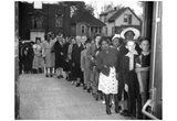 Sugar Rationing (Crowd Lined Up) Art Poster Print Prints