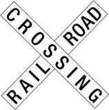 Railroad Crossing Crossbuck Traffic Print Poster Masterprint