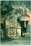 Albert Bierstadt Sunlight and Shadow Art Print Poster Posters