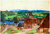 Albrecht Durer Nuremberg Wire-Pullers at the Mill Pegnitz Art Print Poster Poster