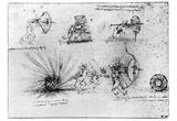 Leonardo da Vinci (Study Sheet) Art Poster Print Posters