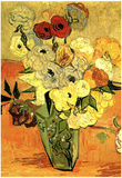 Vincent Van Gogh Still Life Japanese Vase with Roses and Anemones Art Print Poster Prints