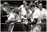 Lou Gehrig Signing Autographs Archival Photo Sports Poster Print Poster