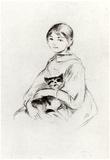 Berthe Morisot Girl with a Cat Art Print Poster Poster