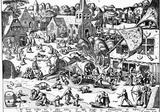 Pieter Brueghel (The Kermesse of Hoboken) Art Poster Print Masterprint