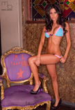 Brianna Martinez in Lingerie Photograph Photo Poster by Mario Brown Masterprint