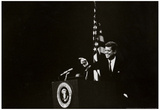 President John F Kennedy Pointing Photo Print Poster Kunstdrucke