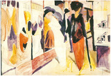 August Macke Fashion Shop Porch Art Print Poster Print