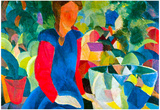 August Macke Girls with Fish Bell Art Print Poster Posters
