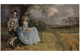 Thomas Gainsborough (Portrait of Mr. and Mrs. Andrews) Art Poster Print Posters