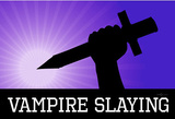 Vampire Slaying Purple Poster Print Masterprint