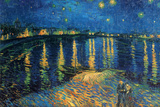 Vincent Van Gogh (Starry Night Over the Rhone) Art Poster Print Starlight Masterprint