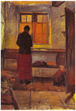 Anna Ancher Girl in the kitchen [2] Art Print Poster Posters