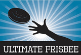 Ultimate Frisbee Blue Sports Poster Print Masterprint