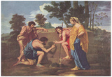 Nicolas Poussin (Shepherds in Arcadia (Et in Arcadia ego)) Art Poster Print Posters