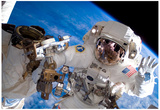 NASA Astronaut Spacewalk Space Earth Photo Posters