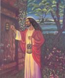 Black Jesus Christ Knocking religious Print Poster Plakater