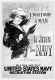 U.S. Navy (I'd Join the Navy, B&W) Art Poster Print Prints
