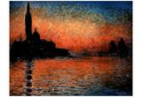 Monet (Sunset) Art Print Poster Print