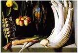 Juan Sanchez Cotan Still Life with Venison Vegetables and Fruits Art Print Poster Prints