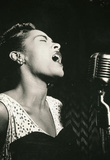 Billie Holiday Signing Archival Photo Music Poster Print Masterprint