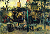 Vincent Van Gogh Terrace of a Cafe on Montmartre La Guinguette Art Print Poster Print