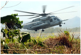 Marines Helicopter (Taking Off) Art Poster Print Posters