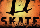 Skateboarding Skate Orange Sports Poster Print Masterprint