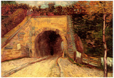 Vincent Van Gogh Roadway with Underpass The Viaduct Art Print Poster Prints