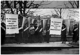 Women Suffragists Picketing in Front of White House Archival Photo Poster Poster