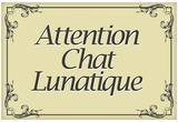 Attention Chat Lunatique French Crazy Cat Sign Poster Print