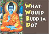 What Would Buddha Do Funny Poster Print Posters