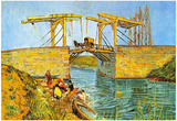 Vincent Van Gogh The Langlois Bridge at Arles Art Print Poster Posters