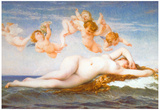Alexandre Cabanel Birth of Venus Art Print Poster Print