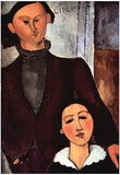 Amadeo Modigliani Portrait of the Married Couple Lipchitz Art Print Poster Posters