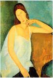 Amadeo Modigliani Portrait of Jeanne Hebuterne 4 Art Print Poster Posters
