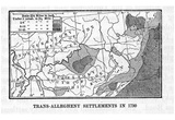 Map of United States (Trans-Allegheny Settlements in 1790) Art Poster Print Posters