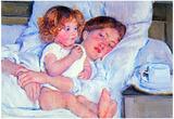 Mary Cassatt Breakfast in Bed Art Print Poster Prints