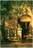 Albert Bierstadt Sunlight and Shadow 2 Art Print Poster Posters