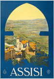 Assisi Vintage Ad Poster Print Prints