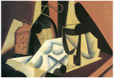 Juan Gris Still Life with a White Tablecloth Cubism Art Print Poster Prints