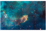Jet in Carina WFC3 UVIS Full Field Space Photo Art Poster Print Affiches