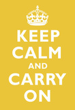 Keep Calm and Carry On Mustard Art Print Poster Masterprint