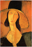 Amadeo Modigliani Portrait of a Woman with Hat Art Print Poster Posters