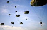 Paratroopers (Many in Sky) Art Poster Print Masterprint