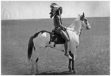 Native American on Horseback 2 Archival Photo Poster Print Posters