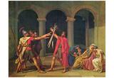 Jacques-Louis David (Oath of Horatier) Art Poster Print Print