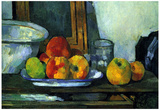 Paul Cezanne (Still life with open drawer) Art Poster Print Photo